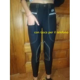 Pantaloni Invernali-DA DONNA TERMICA elastica 60/% COTONE STRECH allevati col