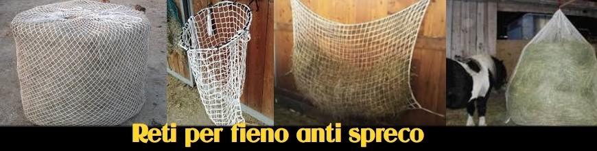 RETI PER FIENO ANTI SPRECO slow feeder - Selleria la Colombaia articoli equitazione on line