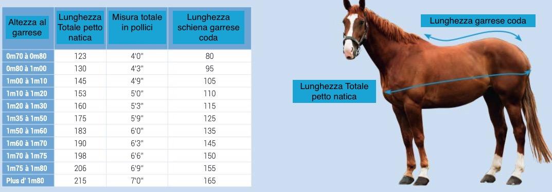 misura coperte cavalli